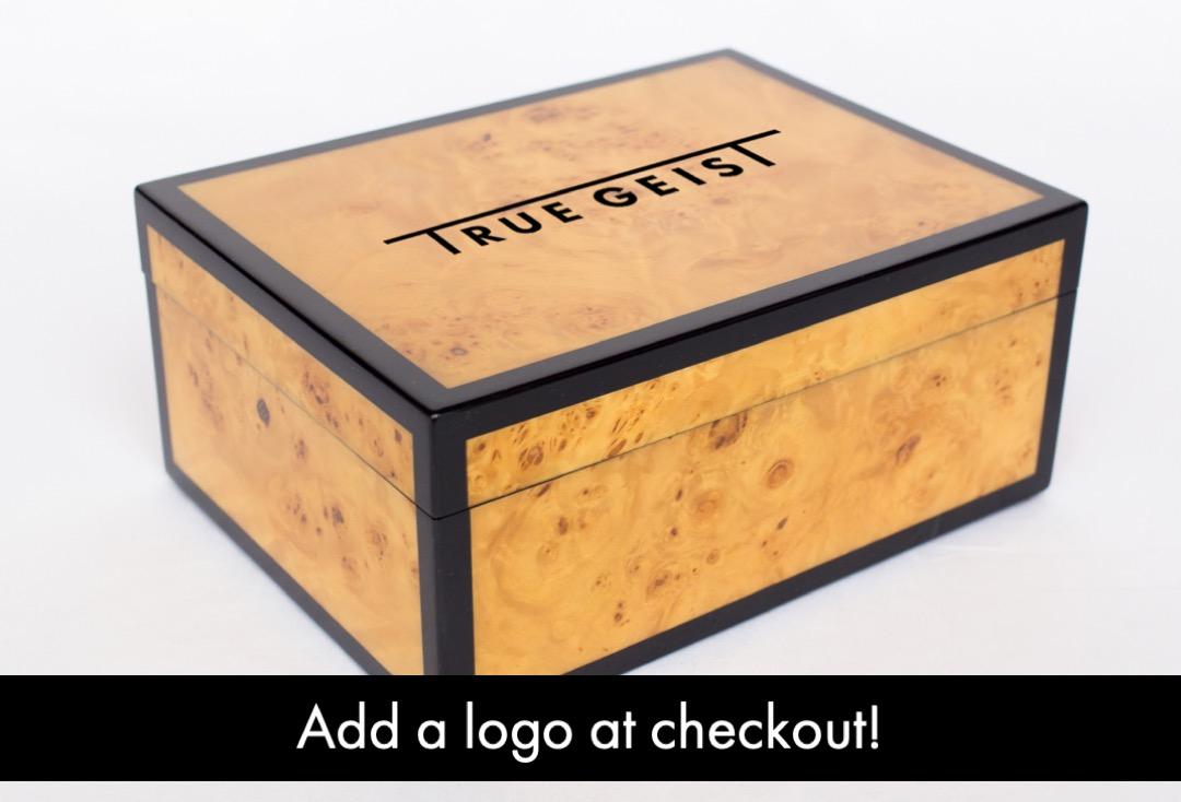 Boombox Gifts - Walnut Burl - Logo Printing